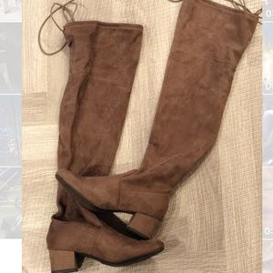 Faux Suede OTK Boots